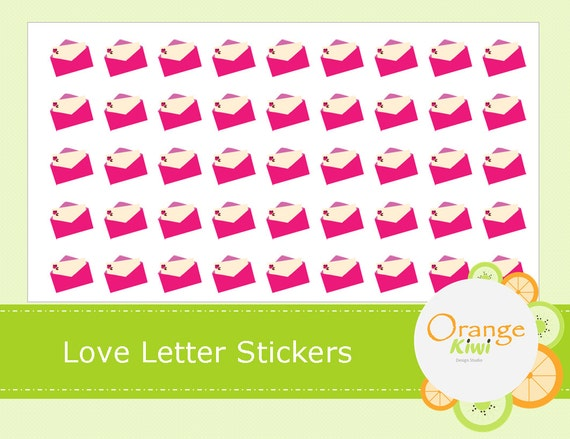 Love Letter Stickers Planner Stickers Letter Stickers