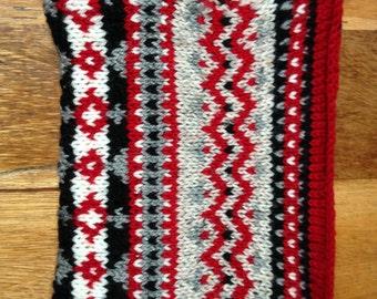 Hand knitted Fairisle iPad sleeve
