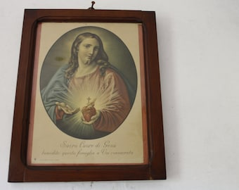 "Painting ""sacred heart of Jesus"" Vintage"
