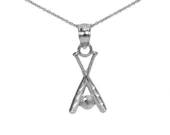 Silver Baseball Bat Charm for Charm Bracelet, Small Silver Necklace, Silver Baseball Bat Necklace Charm Necklace, Silver Baseball Pendant