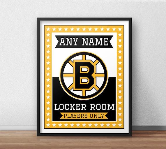 Boston Bruins Custom Locker Room Sign 11 X 14