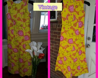 1960's vintage psychedelic Maxi dress