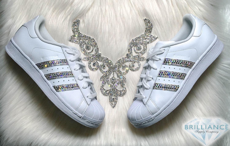 Adidas Superstar zapatos de piel de serpiente Stripes White
