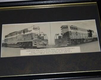 Framed Electro-Motive Diesel Engine Prints