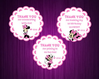 Personalized Minnie Mouse Stickers