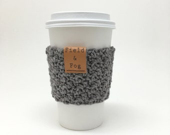 Coffee Cozy, Tea Cozy, Coffee Cup Sleeve, Grey, Gray, Neutral, Coffee Cup Cover, To Go Cup Sleeve, Cup Cozy, Cup Sleeve,