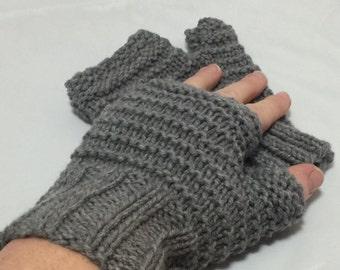 Fingerless driving gloves Grey #1018