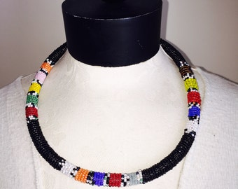 African Seed Bead Necklace