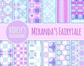 "Watercolor Digital Paper / Background / Pattern ""MIRANDA'S FAIRYTALE"""
