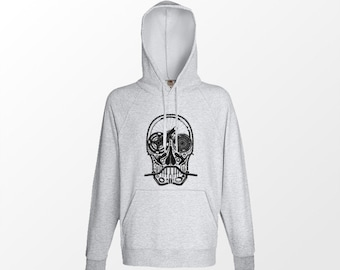 Cool hoodie skull design Featuring bike parts, Ideal Cyclist gift