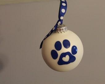 UK cat paw ornament