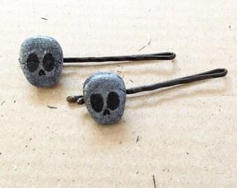Kawaii Skull barrettes