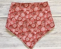 Baby Bandana Bib with Lovely Geometric Fabric -Bandana Bib -Baby Bibdana -Baby Drool Bib -Adjustable Baby Bib -Dribble Bib -Scarf Bib