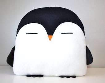NEW! PLUMM the Penguin pillow black kawaii handmade < 3