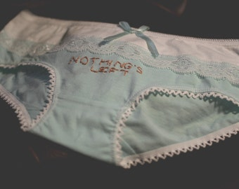 Nothing's Left: Embroidered Panties