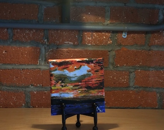 Sunset small painting