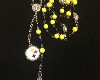 NFL Steelers Handmade Rosary