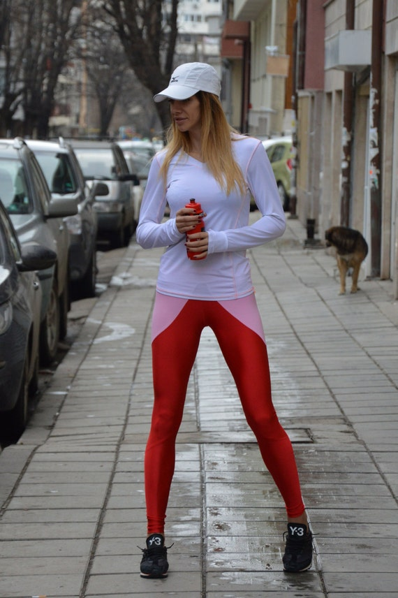 Extra Long Red Leggings Women 39 S Workout Pants Oversize
