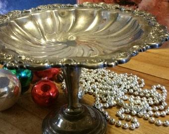 Rosenzweig silver plate pedestal candy dish