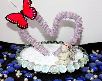 Beaded Heart sculpture!