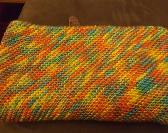 A soft warm and colorful baby blanket
