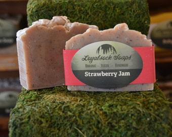 Strawberry Jam Soap - organic, handmade, all natural, cold process, vegan