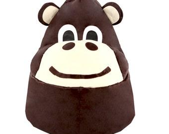 Brown Monkey Bean Bag Chair