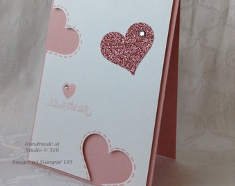 it's in the air - Cut Out Hearts Card