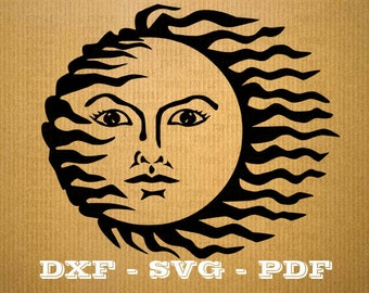 Sun SVG Sun vector files for cricut, sun cutting files, clipart sun, DXF files sun, silhouette sun, svg summer