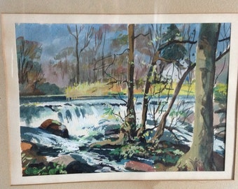"Antique Watercolor Signed "" Kennedy "" Well Done"
