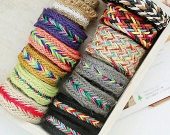 1 yard Cotton Ribbon Sewing Tape Label Print Ribbon Label-Hemp Rope, J082