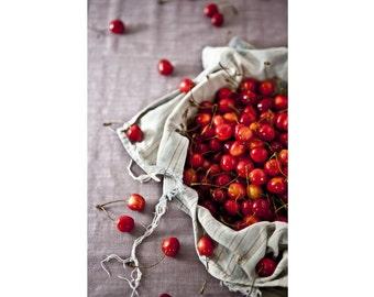 Berries - Cherry Photo - Food Art - Kitchen Photo - Vertical Photo - Digital Photo - Digital Download - Instant Download - Farmhouse Kitchen