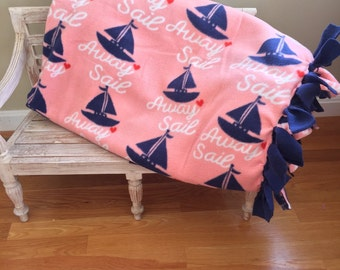Sail Away No-Sew Fleece Blanket