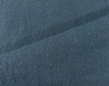 Linen – Washed Linen - Space Blue – 100% Linen- Fabric by Meter/ Yard - Clothing – Home Décor – Art and Craft AF2155SB