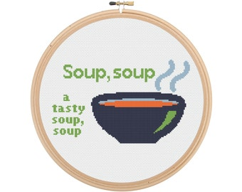 Mighty Boosh Soup Cross Stitch Pattern - Instant Download