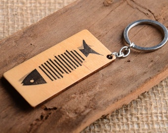 Handmade keychain unusual souvenir for men gift ideas wooden keychain