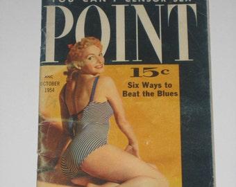 Point Magazine pulp Oct 1954 pinup