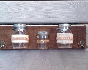 Mason Jar holder. Gift. Mothers Day. Valentines day. Home decor.