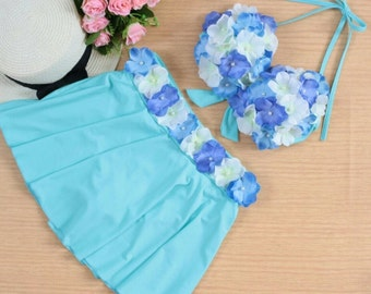 Blue women swimwear