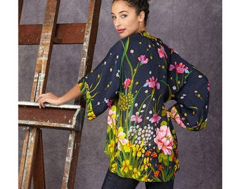 Sewing Pattern for Misses' Fashion Kimonos Jacket sizes XXS to XXL, Simplicity Pattern 1318, Open Cardigan Pattern,Tunic, Jacket,Plus Sizes