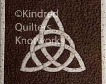 Celtic Trinity Knot, Celtic Triquetra Knot, Celtic Home Decor,  Knot Custom K004, Trinity Motif with Circle pattern