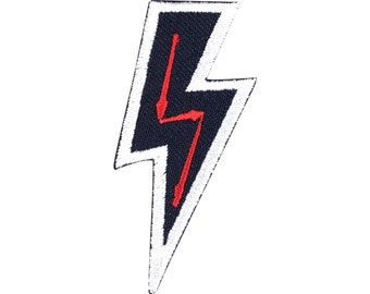 Thunder Patch Embroidered Punk Iron On Sew On Patches