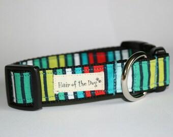 Colorful Stripe DoG Collar
