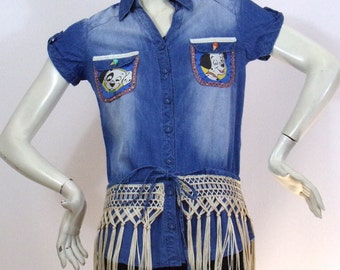 Short blue shirt Kustom Designs 4U Dalmatians