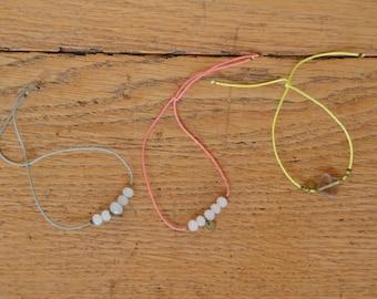 Bracelets à perles facetées