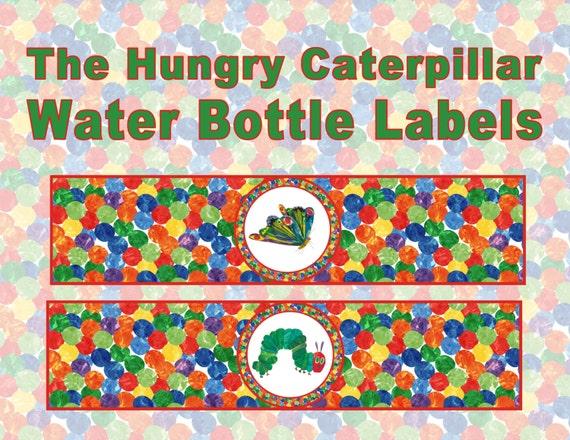 Hungry Caterpillar Water Bottle Labels By Atimetorememberdpk