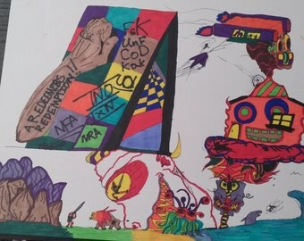 Original Sharpie Art | Freakness