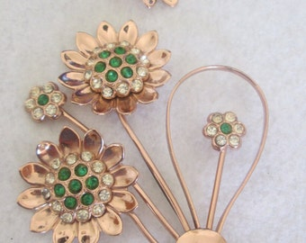 Corocraft Sterling Silver Brooch and Earrings