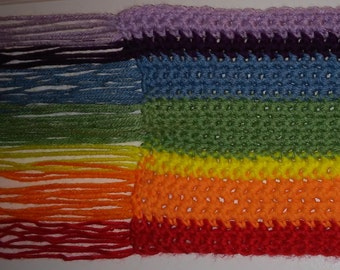 "Somewhere ""Over the Rainbow"" Hand-Crocheted, Scarf for Anyone"