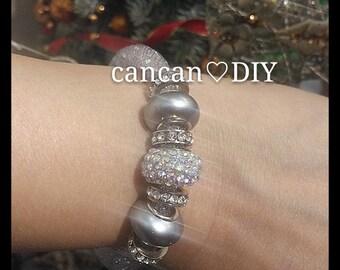 Light grey Stardust bracelet , cancandiy